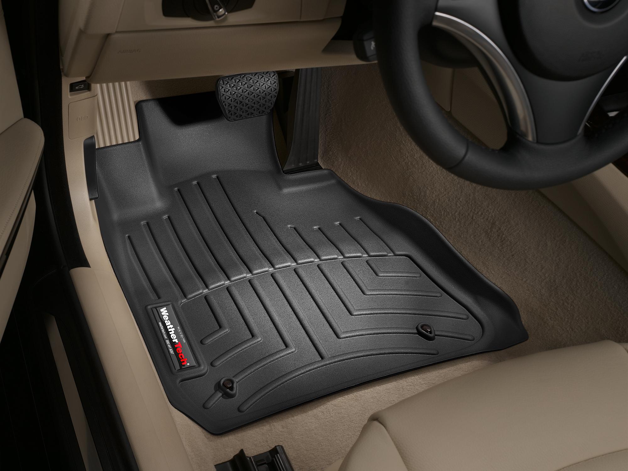 BMW M3 (E90/E92/E93) 08>11 Tappeti gomma su misura bordo alto nero