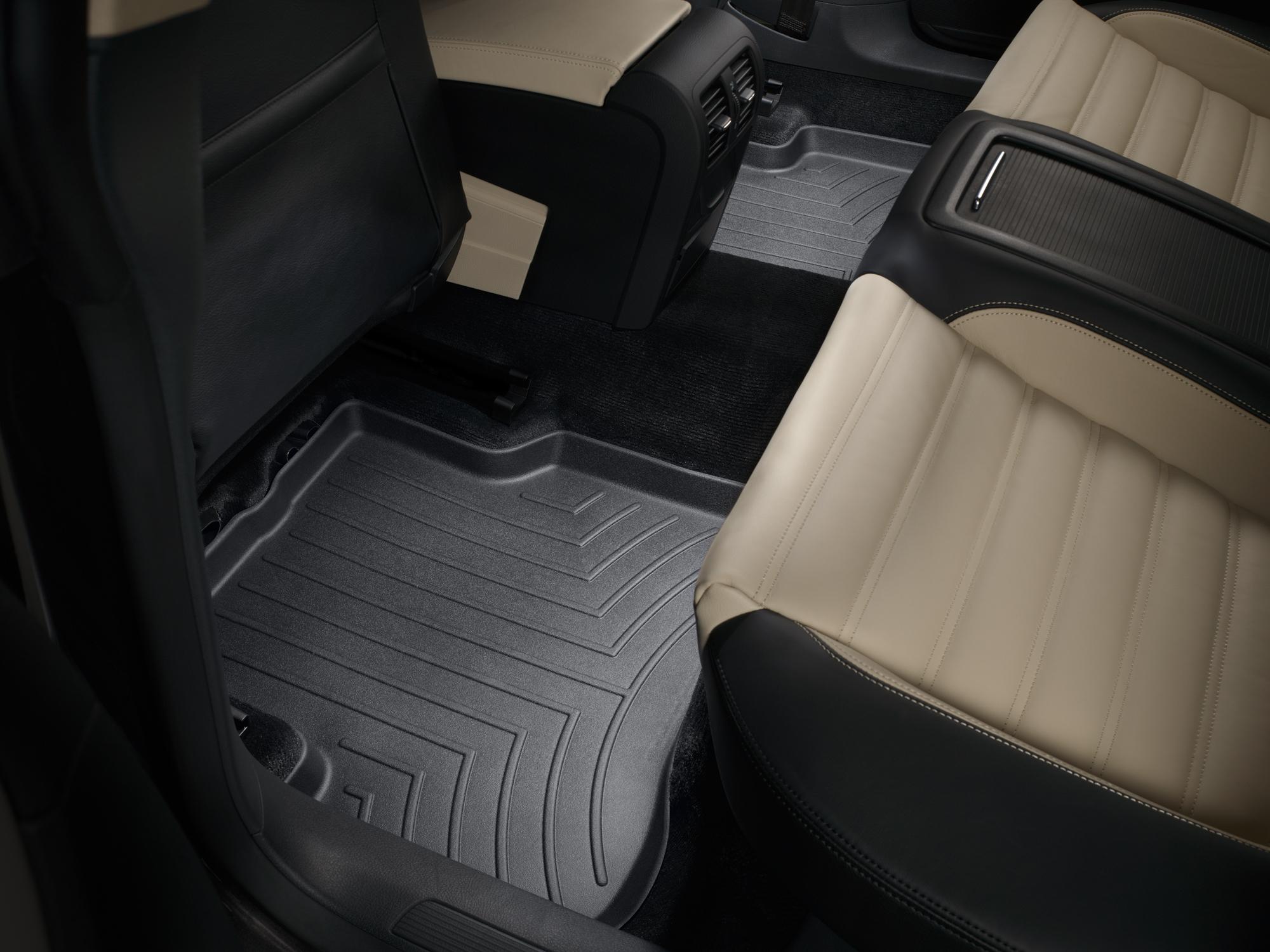 Tappeti gomma su misura bordo alto Volkswagen CC 08>14 Nero A4003*