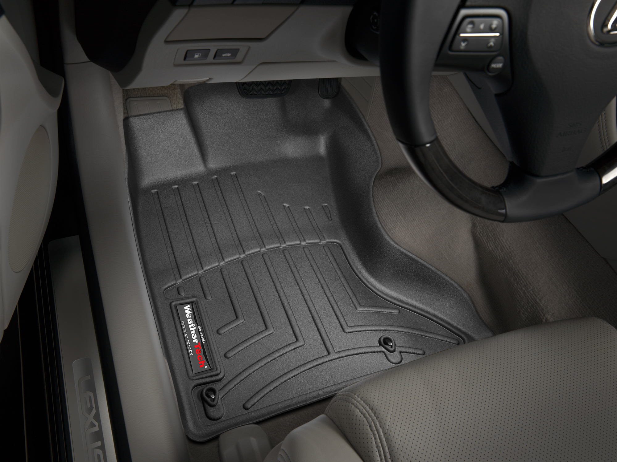 Tappeti gomma Weathertech bordo alto Lexus GS 300 06>06 Nero A2025
