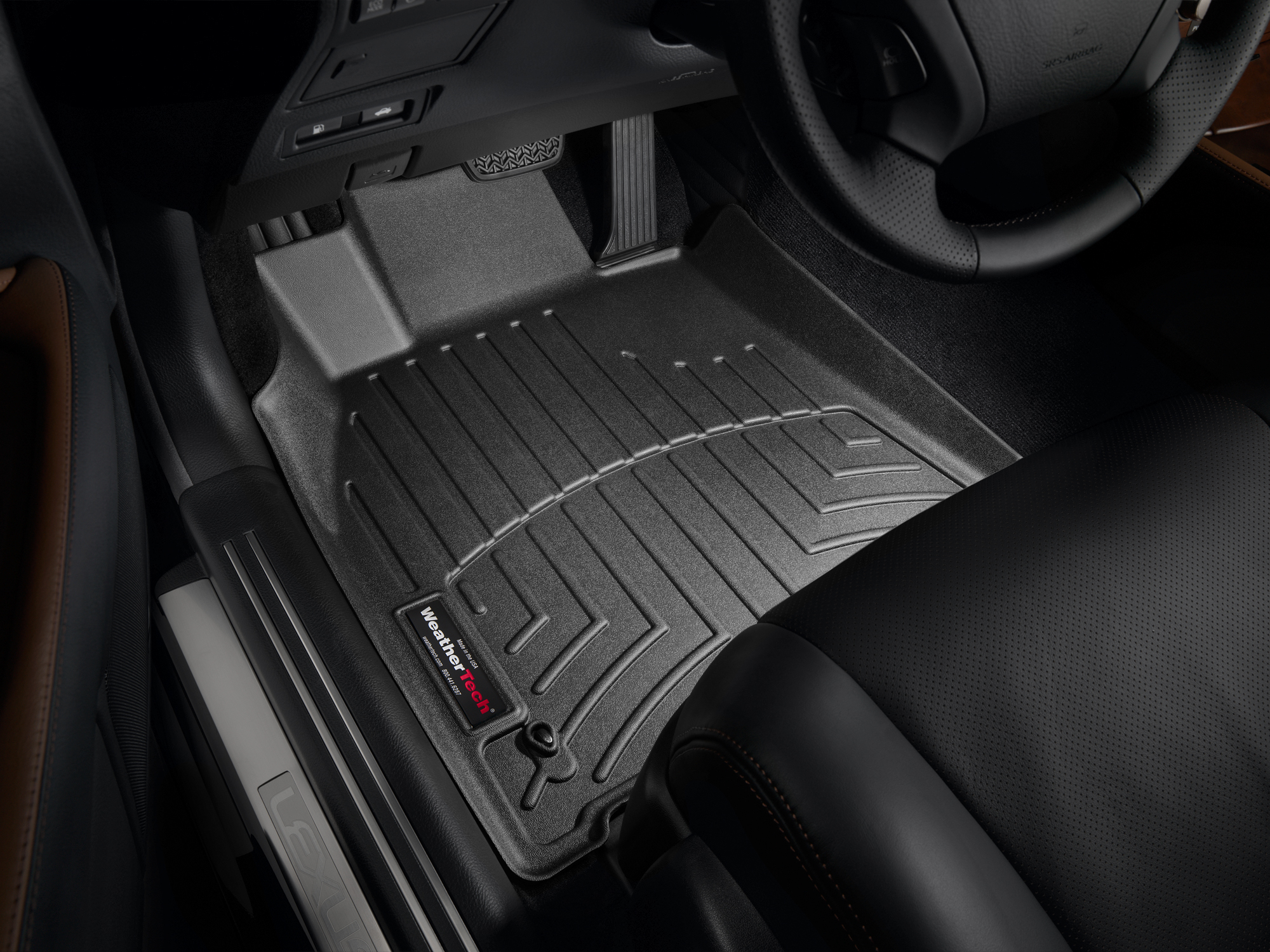Tappeti gomma Weathertech bordo alto Lexus LS 07>12 Nero A2064