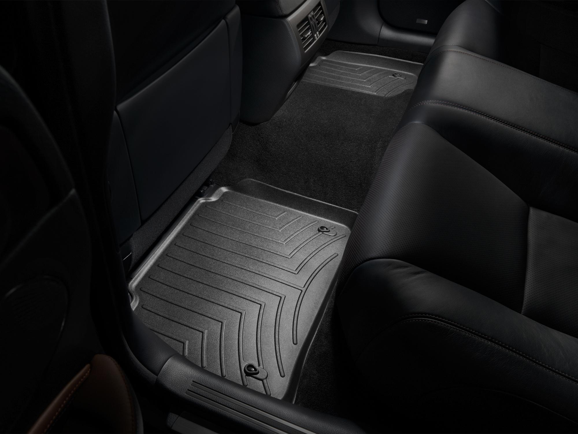 Tappeti gomma su misura bordo alto Lexus LS 07>12 Nero A2068