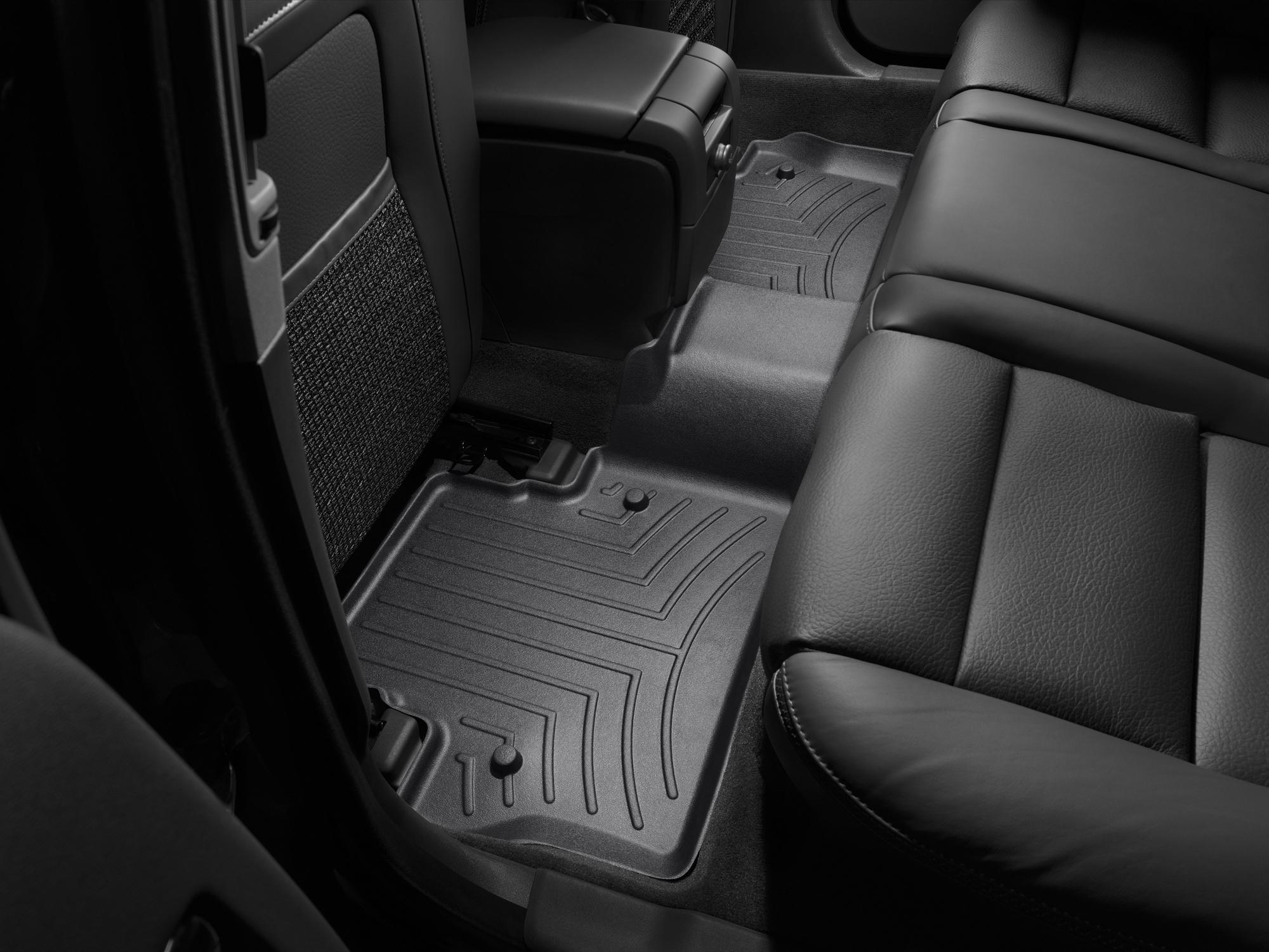 Tappeti gomma su misura bordo alto Volvo V70 08>17 Nero A4418*
