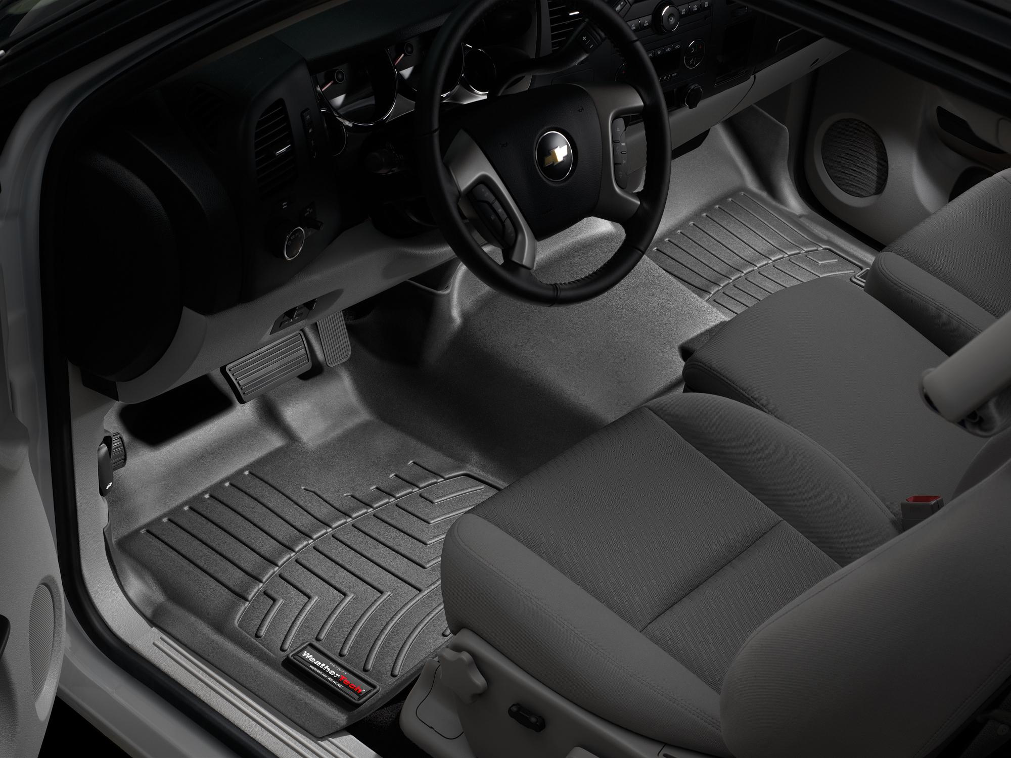 Tappeti gomma su misura bordo alto Chevrolet Silverado 14>14 Nero A189