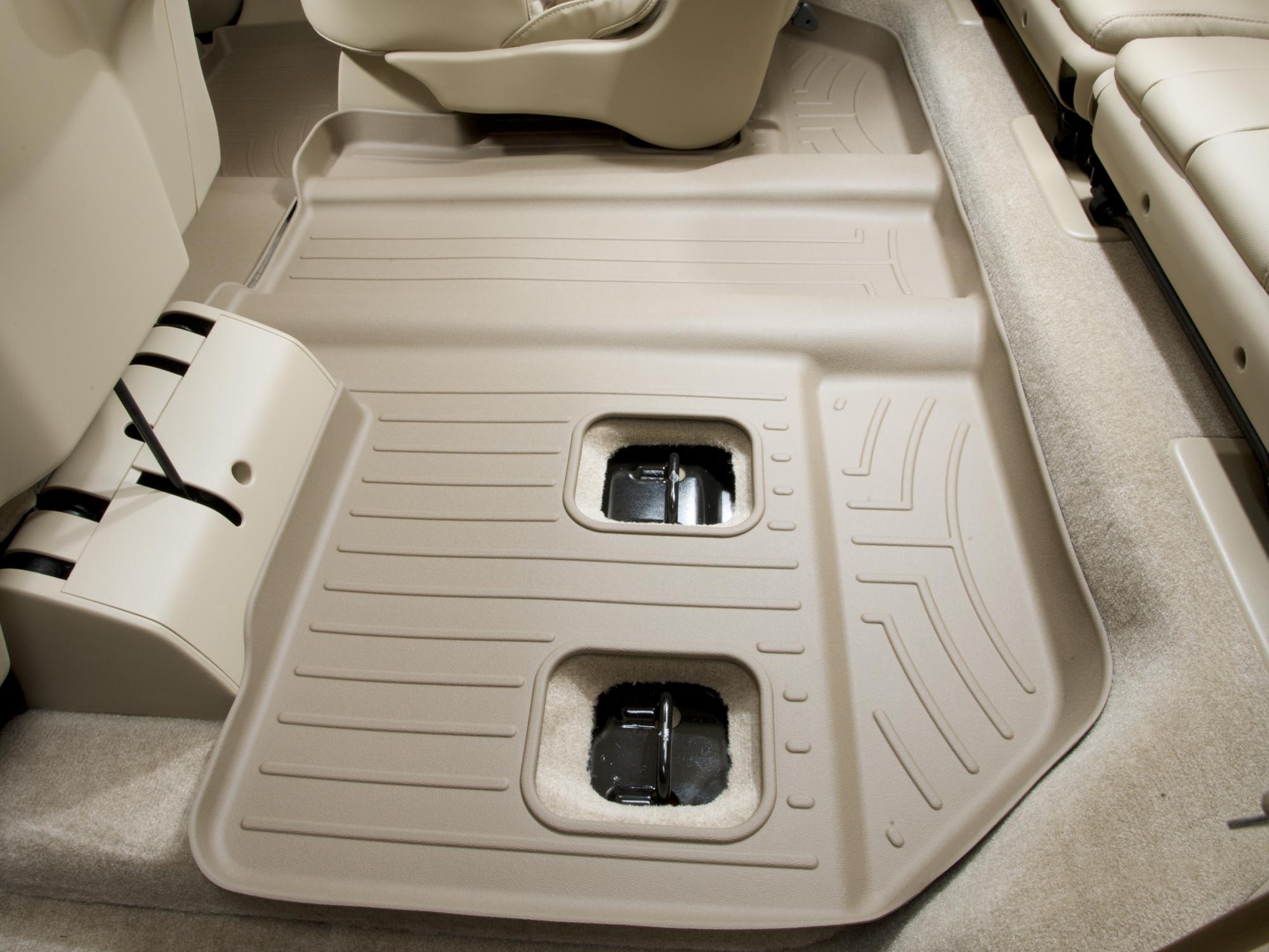 Tappeti gomma su misura bordo alto Cadillac Escalade ESV 07>10 Marrone A48*