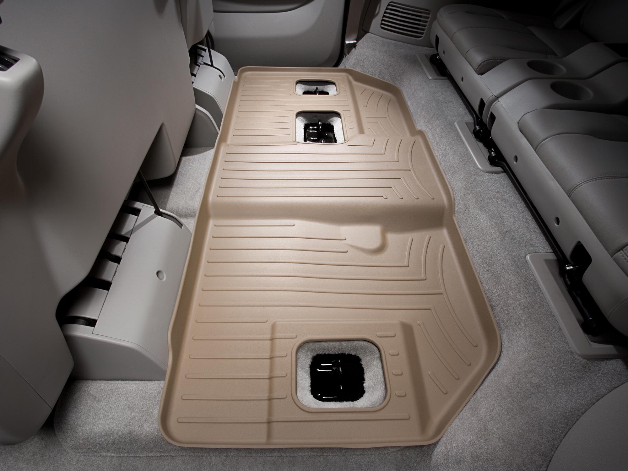 Tappeti gomma su misura bordo alto Cadillac Escalade ESV 07>10 Marrone A49*