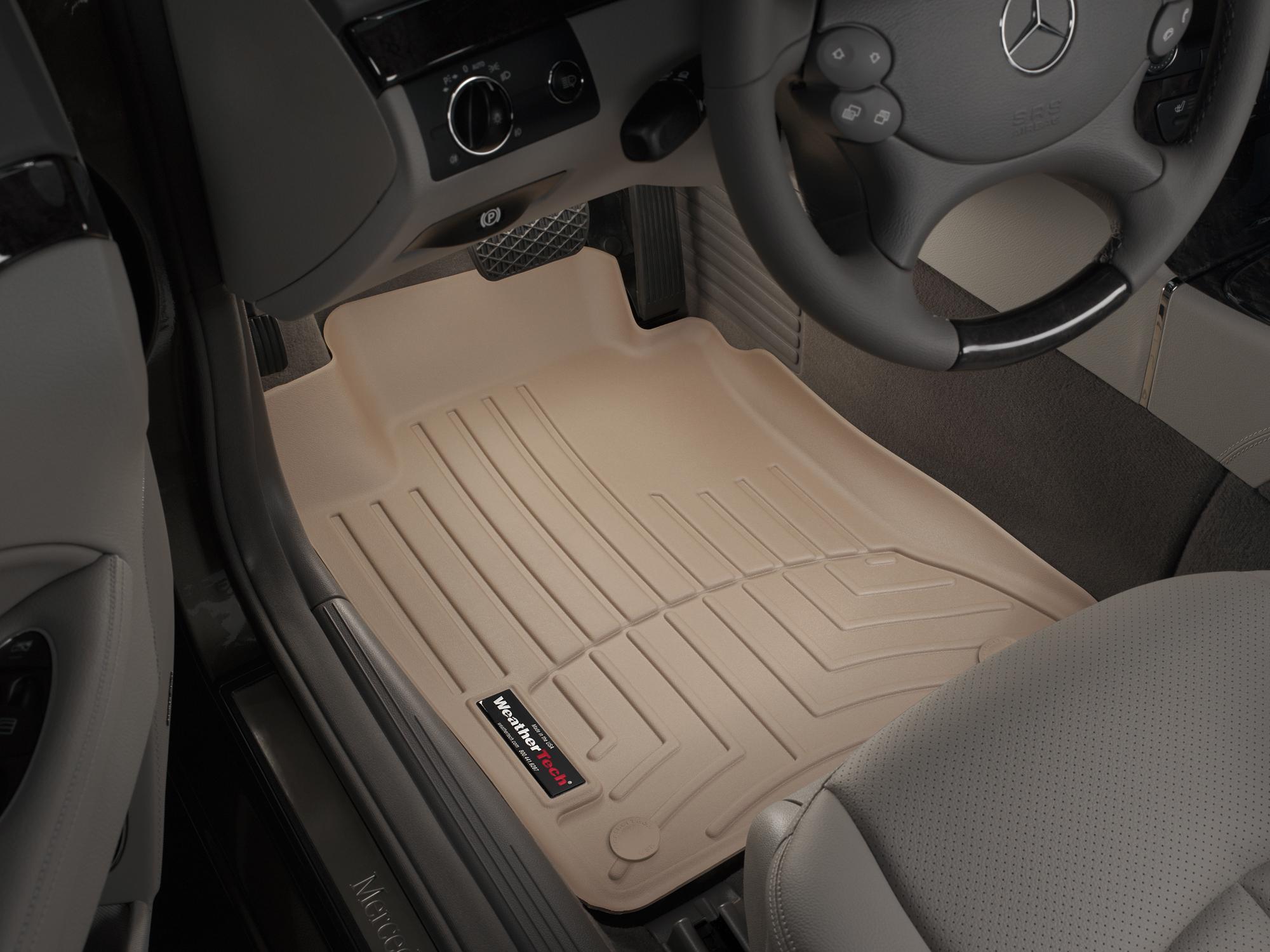 Tappeti gomma su misura bordo alto Mercedes E-Class 03>09 Marrone A2365*