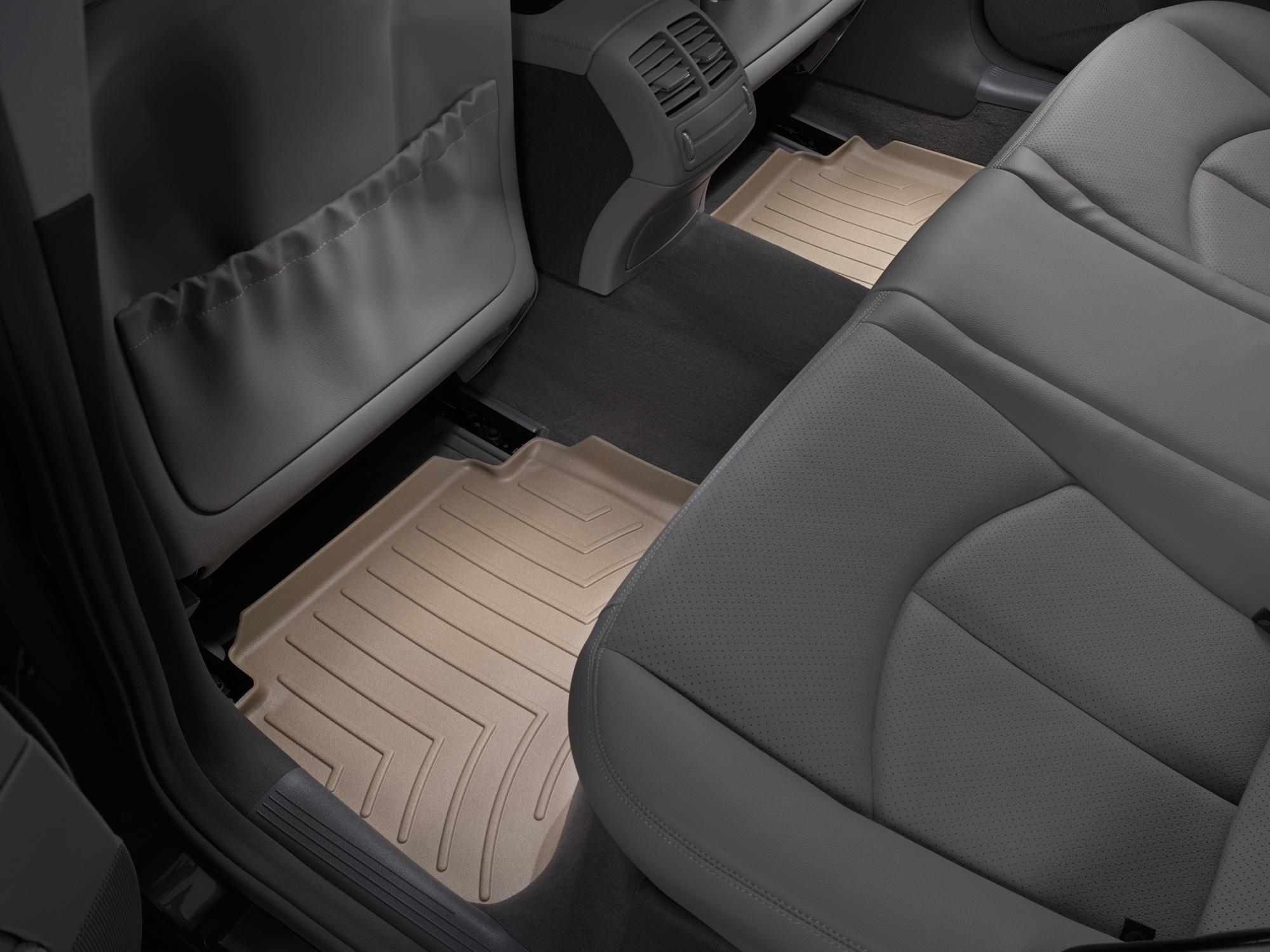Tappeti gomma su misura bordo alto Mercedes E-Class 03>09 Marrone A2368*