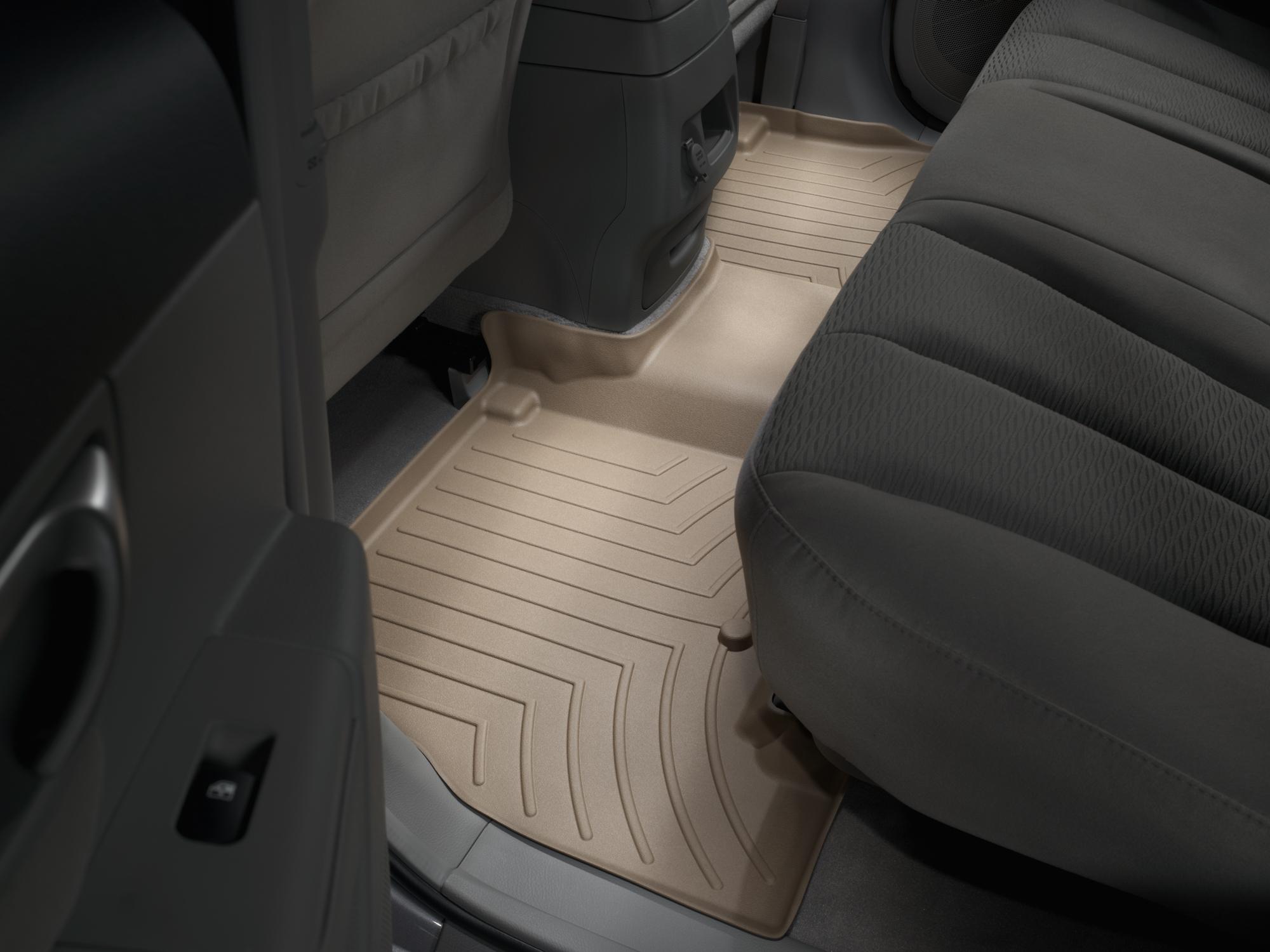 Tappeti gomma su misura bordo alto Hyundai Santa Fe 12>12 Marrone A1484