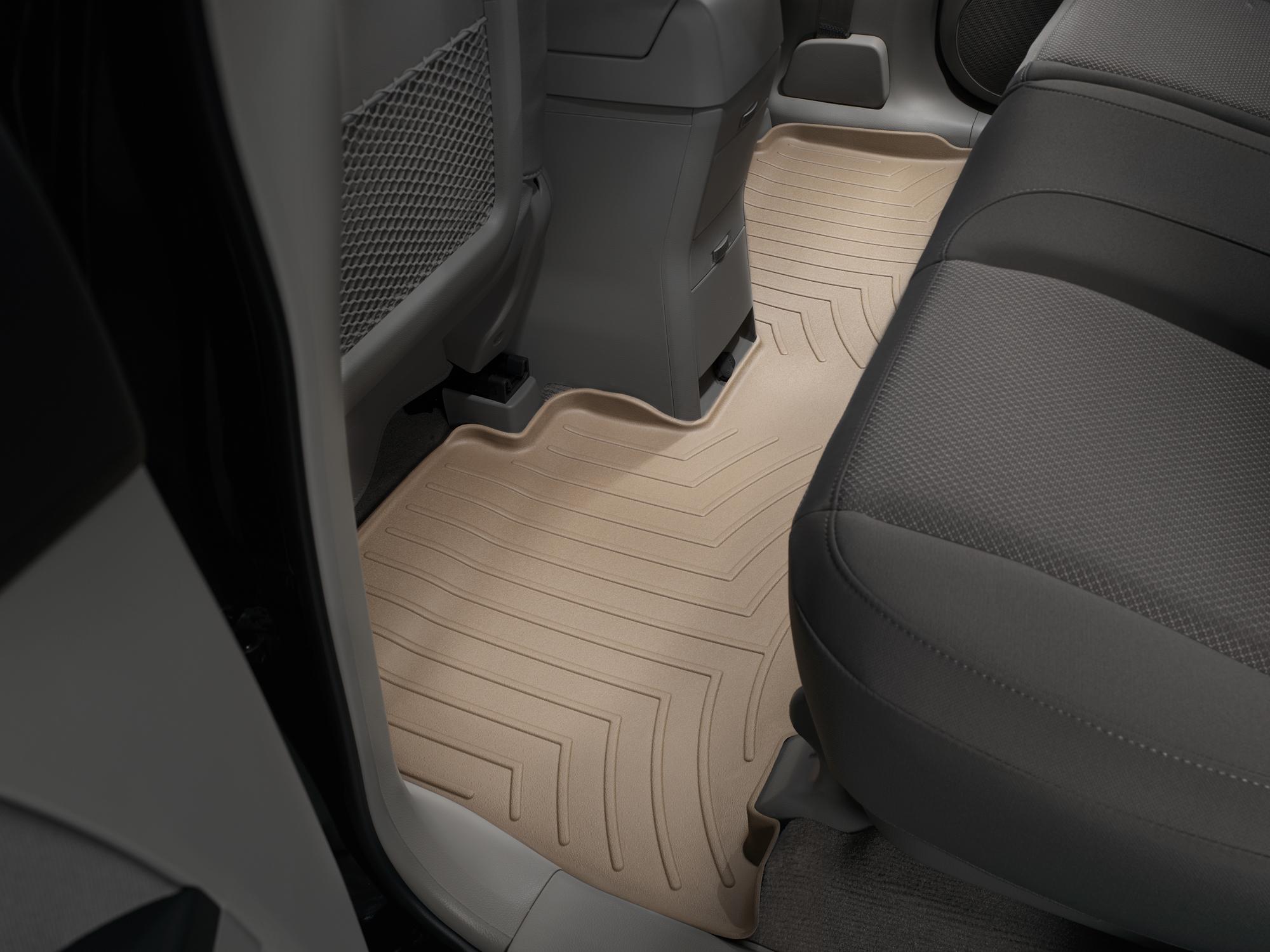 Tappeti gomma su misura bordo alto Chevrolet Captiva 06>11 Marrone A110*