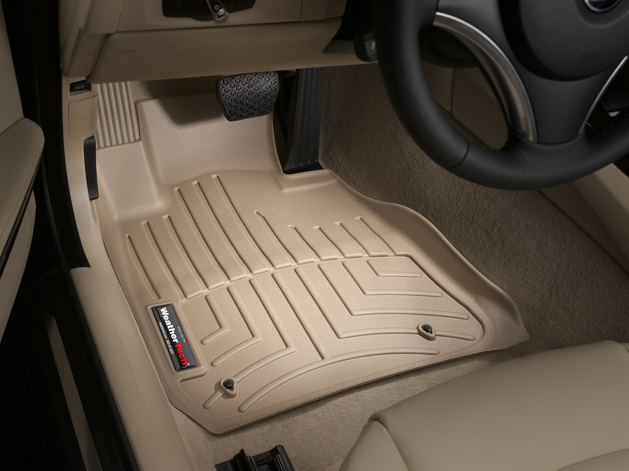 BMW M3 (E90/E92/E93) 08>11 Tappeti gomma su misura bordo alto marrone