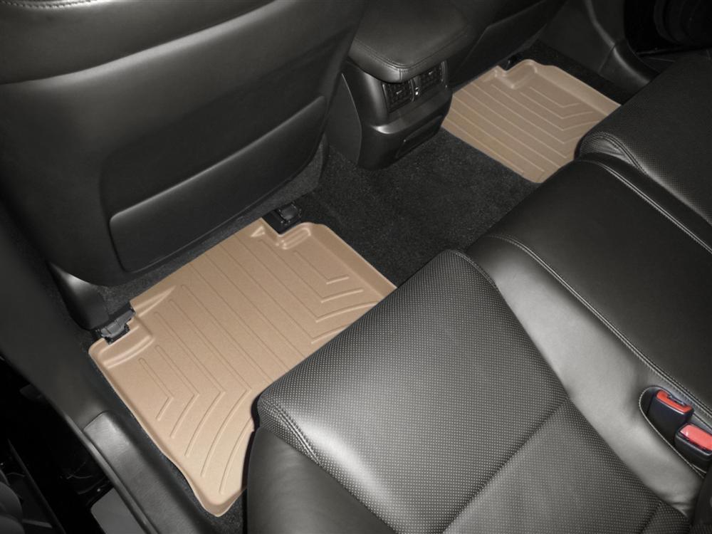 Tappeti gomma su misura bordo alto Lexus GS 300 06>06 Marrone A2023*