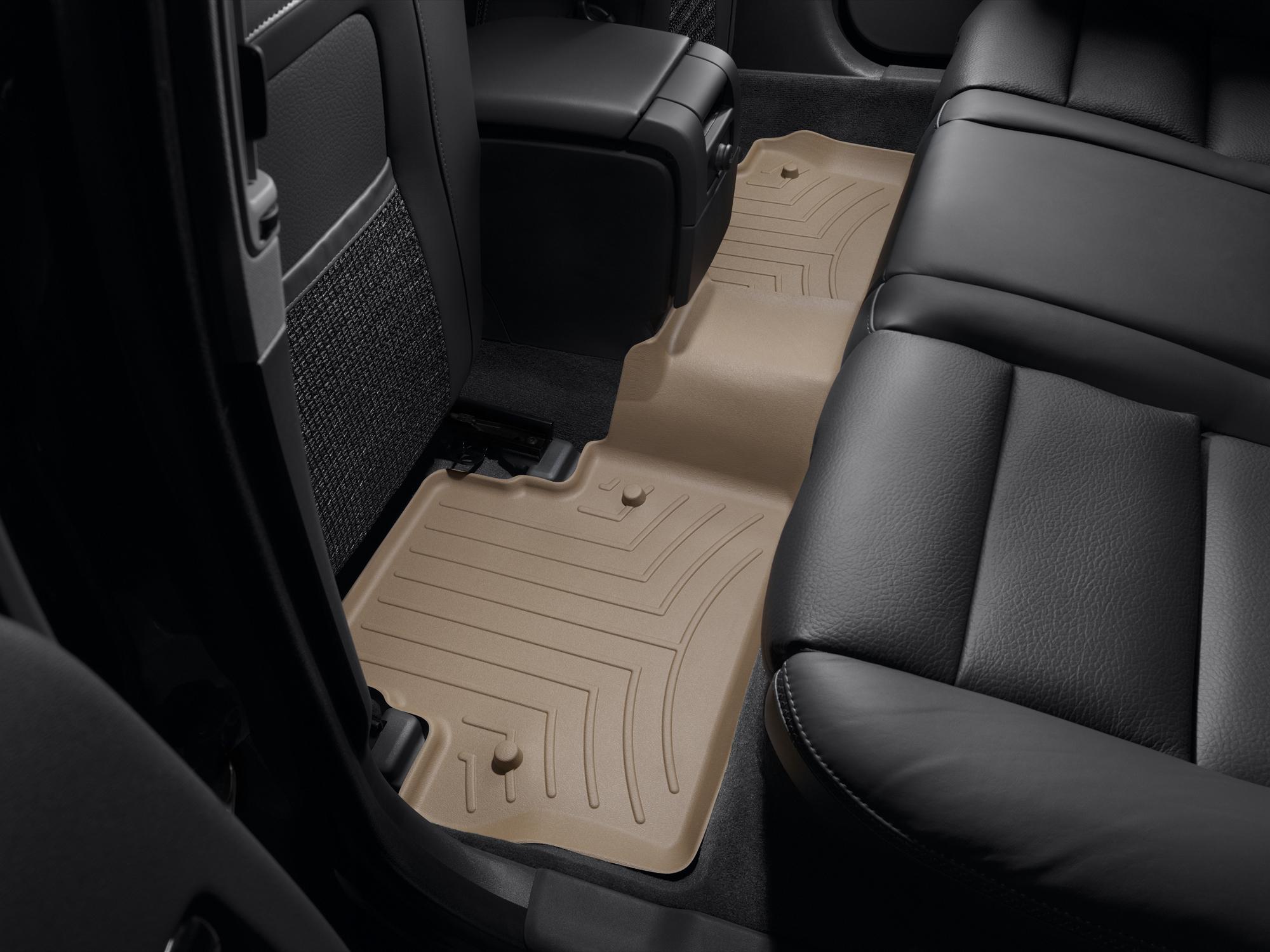 Tappeti gomma su misura bordo alto Volvo V70 08>17 Marrone A4416*