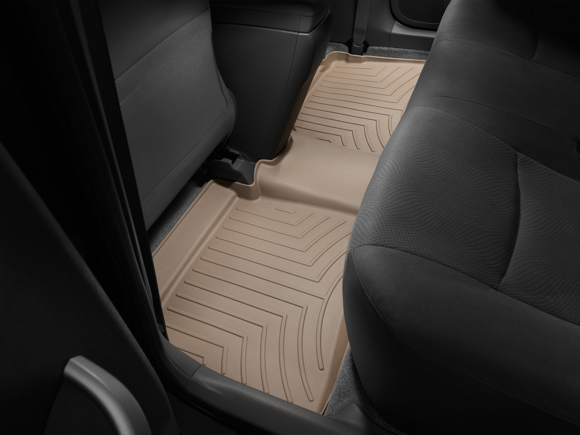 Tappeti gomma su misura bordo alto Toyota Prius 10>15 Marrone A3760*