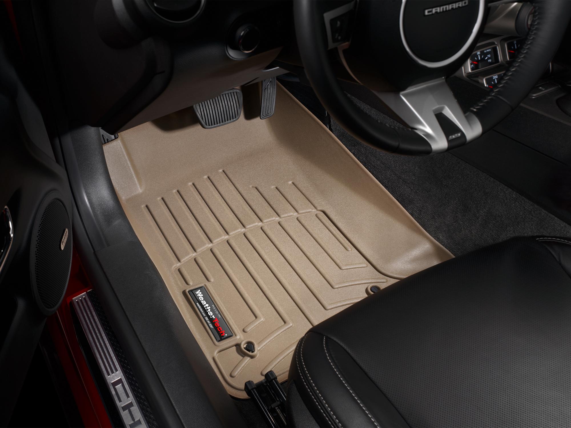 Tappeti gomma su misura bordo alto Chevrolet Camaro 10>15 Marrone A100*
