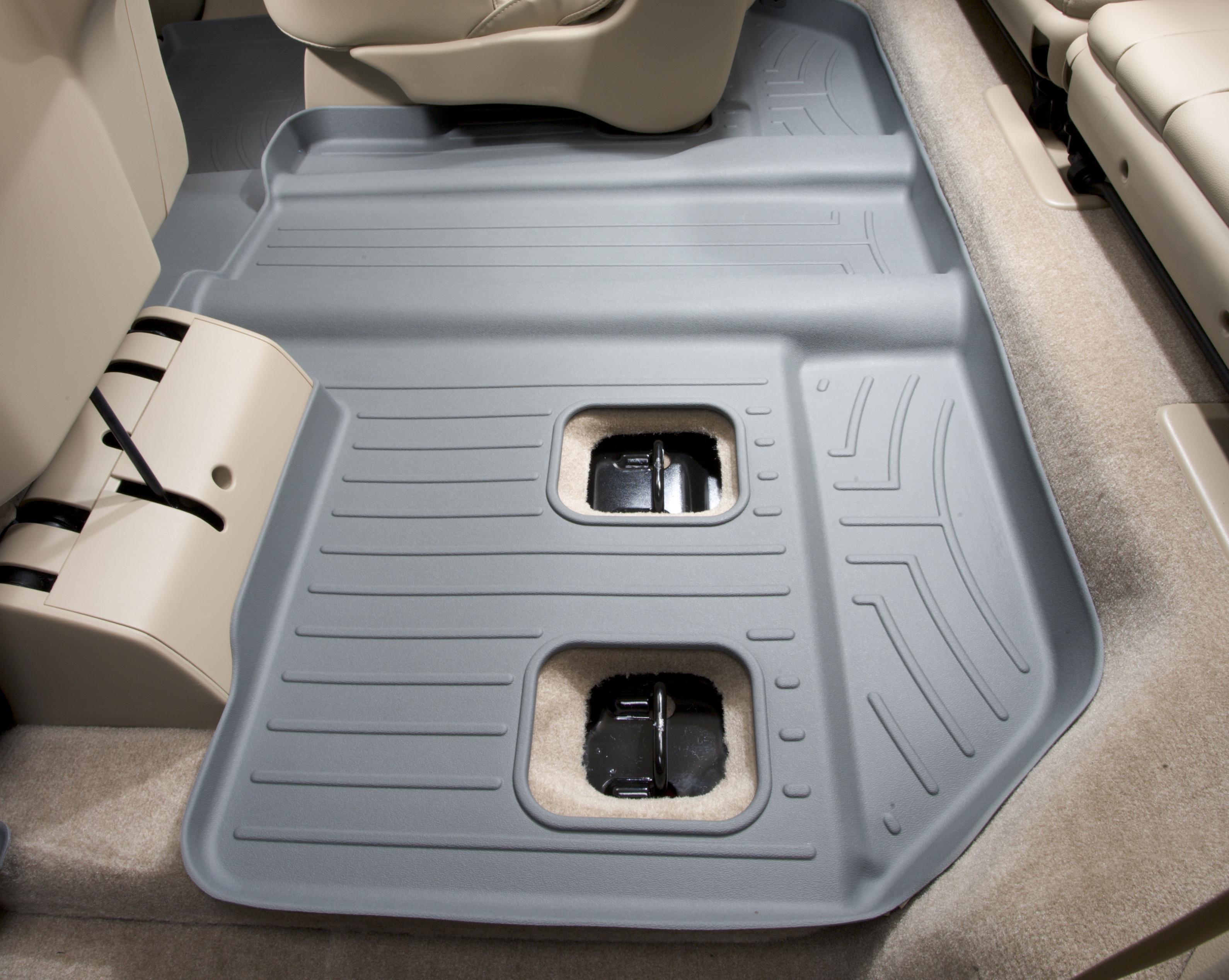 Tappeti gomma su misura bordo alto Cadillac Escalade ESV 07>10 Grigio A45*