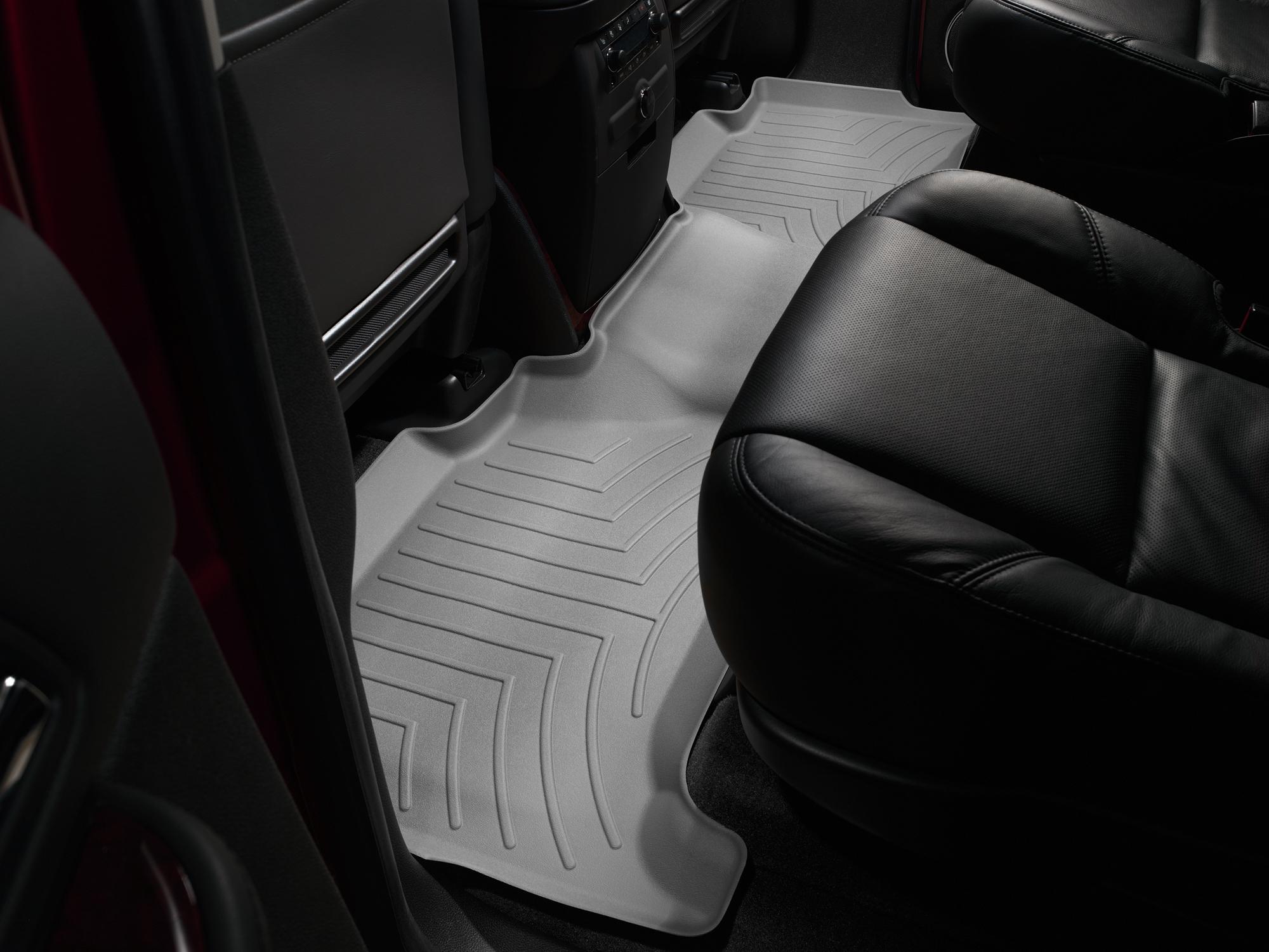 Tappeti gomma su misura bordo alto Cadillac Escalade ESV 07>14 Grigio A55*