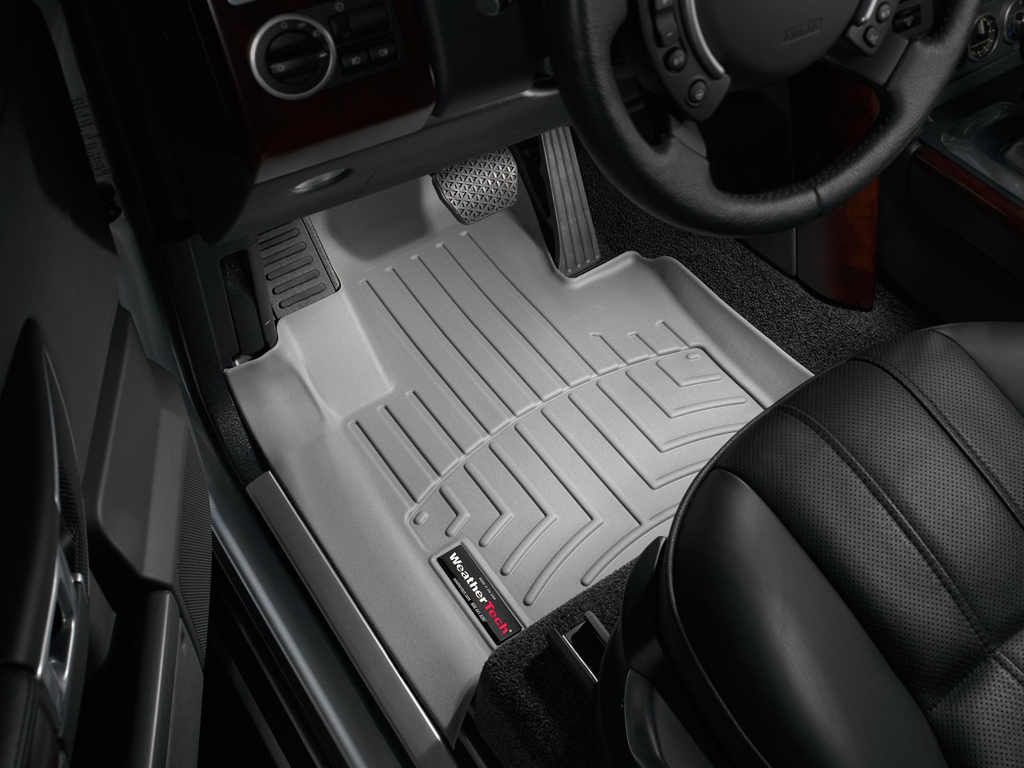 Tappeti gomma su misura bordo alto Land Rover 03>09 Grigio A1899*
