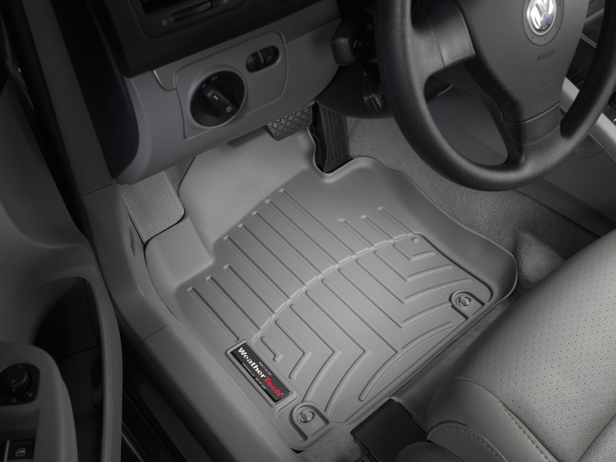 Tappeti gomma su misura bordo alto Volkswagen Golf 12>12 Grigio A4041*