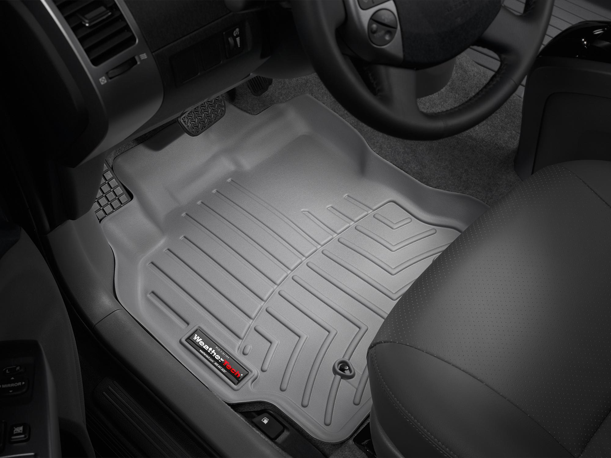 Tappeti gomma su misura bordo alto Toyota Prius 04>08 Grigio A3726*