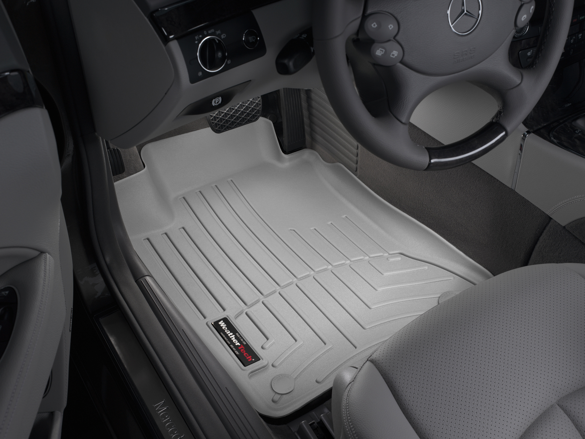 Tappeti gomma su misura bordo alto Mercedes E-Class 02>09 Grigio A2345*