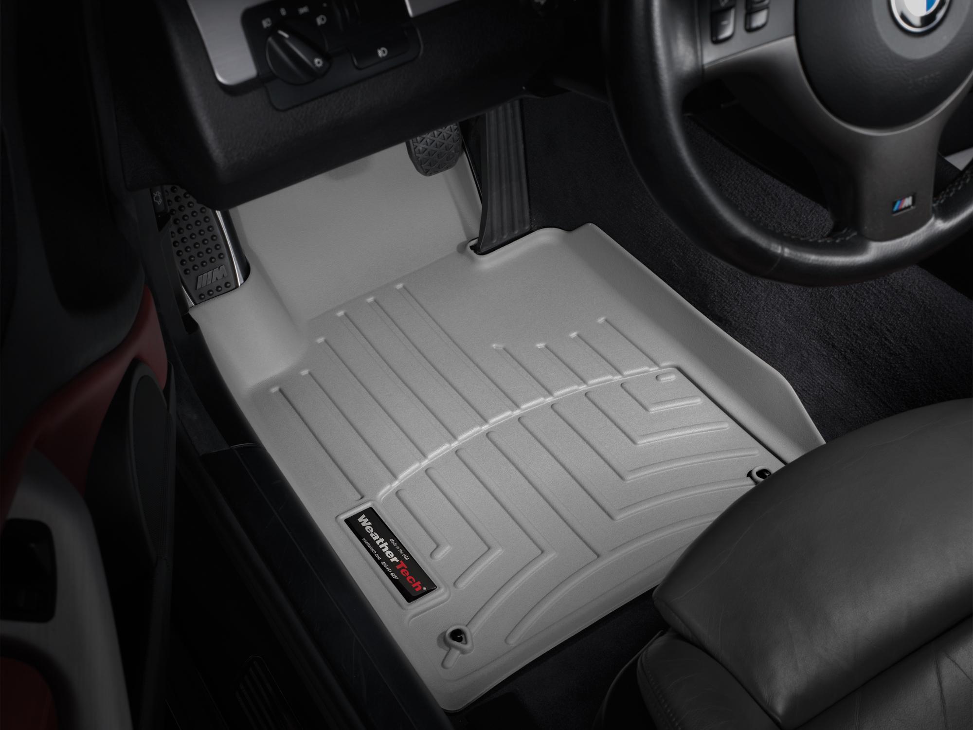 BMW Serie 3 (E46) 99>06 Tappeti gomma su misura bordo alto grigio*