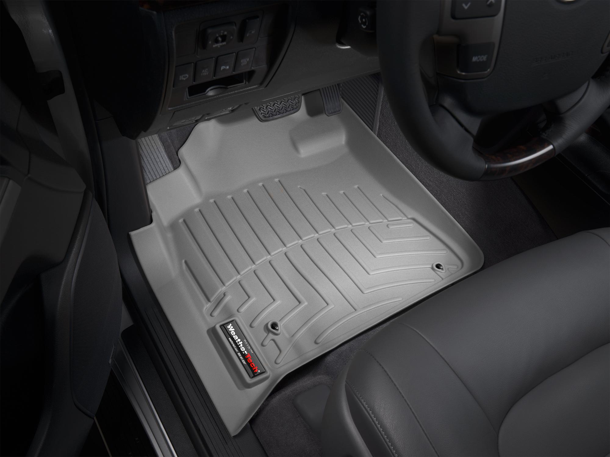Tappeti gomma su misura bordo alto Toyota Land Cruiser V8 08>11 Grigio A3696*