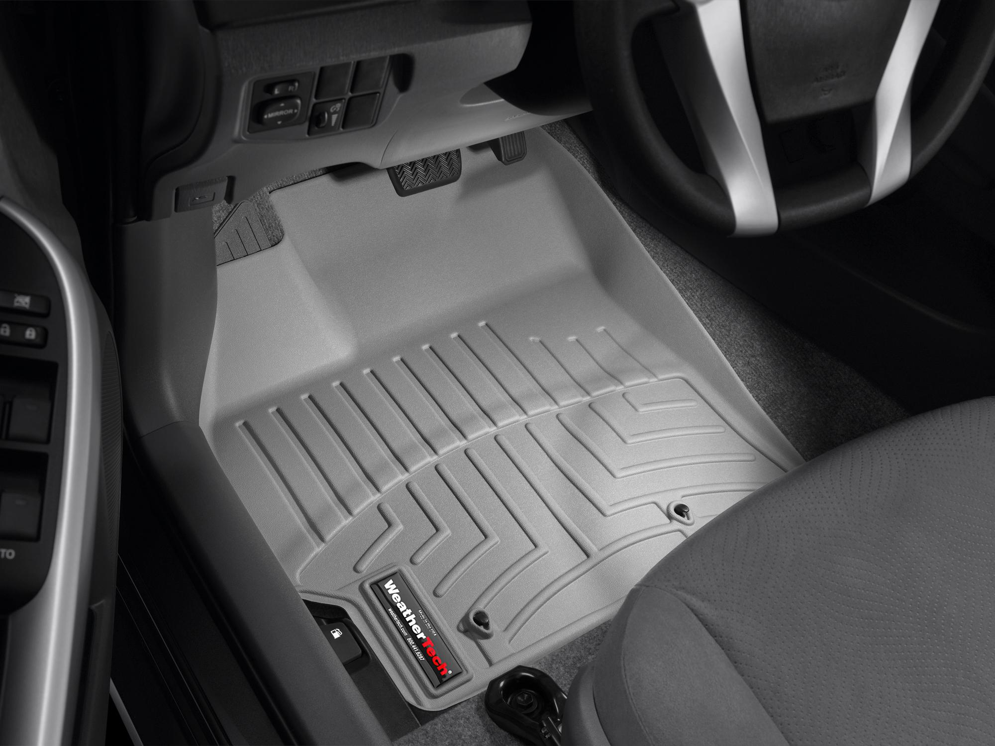 Tappeti gomma su misura bordo alto Toyota Prius 09>09 Grigio A3736*