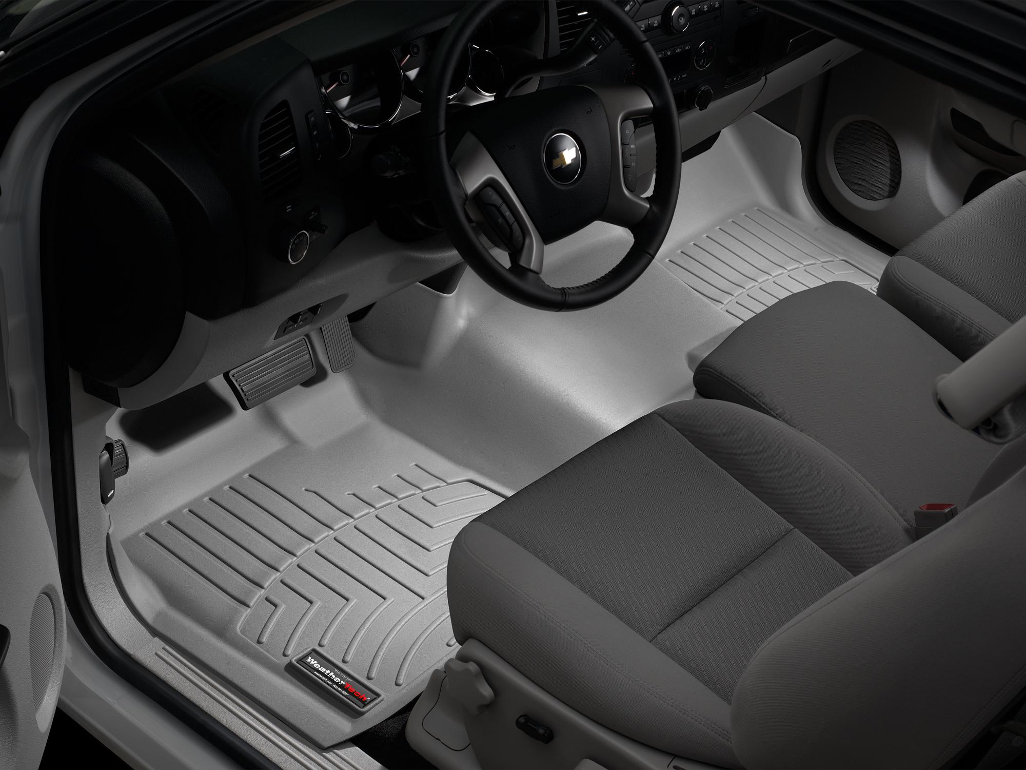 Tappeti gomma su misura bordo alto Chevrolet Silverado 08>13 Grigio A175