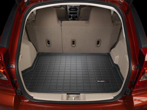 Tan WeatherTech Custom Fit Front FloorLiner for Dodge Caliber