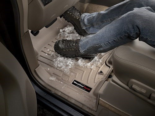 weathertech's floor liner protect car interior from damage by snow