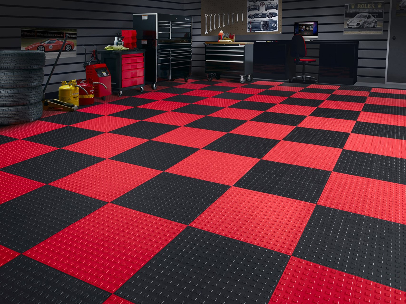 TechFloor WeatherTech - Garage floor tracks