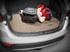 family luggage on a Cargo Liner in SUV BY WEATHERTECH