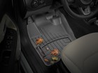 black FloorLiner with leaves on it BY WEATHERTECH