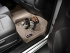 Baseball, cleats and glove on rear FloorLiner. BY WEATHERTECH