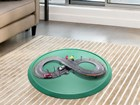 toy race car track on a Christmas Tree Mat BY WEATHERTECH