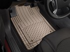 WeatherTech All-Vehicle Mats installed in a car. BY WEATHERTECH