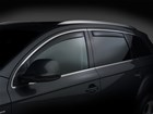Side Window Deflector on black SUV BY WEATHERTECH