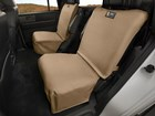 two tan bucket Seat Protectors BY WEATHERTECH
