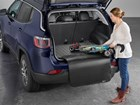 Woman puts stroller in SUV with Bumper Protector BY WEATHERTECH