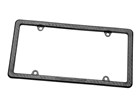 WeatherTech Carbon Fiber Plate Frame on white.  BY WEATHERTECH