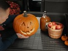 pumpkin and apples on a Cargo Liner BY WEATHERTECH
