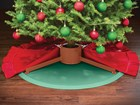 Christmas Tree Mat with a tree red skirt about it BY WEATHERTECH