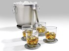 ice bucket and drinks on coasters BY WEATHERTECH