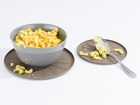 Mac n cheese bowl on coaster BY WEATHERTECH