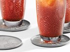 close up of iced tea glasses on coasters BY WEATHERTECH