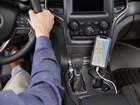CupFone with mobile phone showing navigation. BY WEATHERTECH