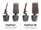 CupFone XL and CupFone comparison BY WEATHERTECH