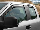 Side Window Deflector on a sliver truck BY WEATHERTECH