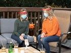 Women speaking while wearing Face Shields. BY WEATHERTECH