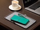 Phone and case on FlexTray in cafe.  BY WEATHERTECH